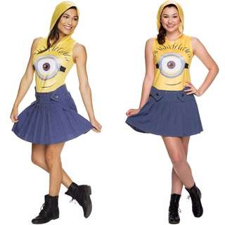 (NEW) Official Minion Despicable Me Female Costume Cosplay Dress