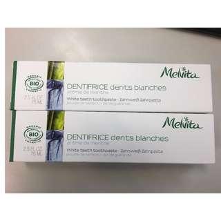 Melvita White teeth toothpaste美白牙膏 2枝