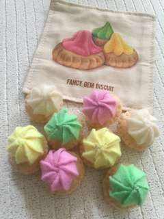 Handmade Pretend Play Felt Food Gem Biscuit
