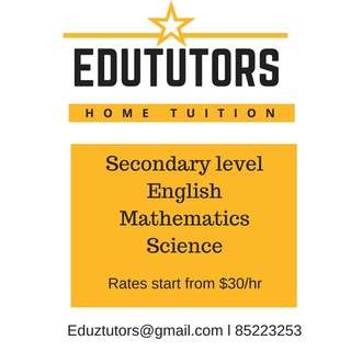 Home Tuition for Secondary