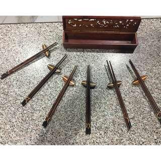 Antique wooden chopsticks