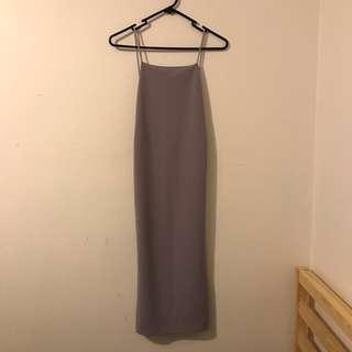 Lilac square midi dress