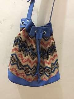 Aztec bucket bag