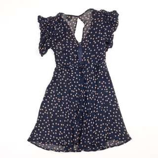 Kate moss top shop navy dress size 8