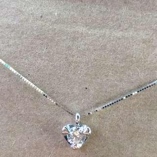 日本製18k金天然鑽石23分鑽墜項鍊