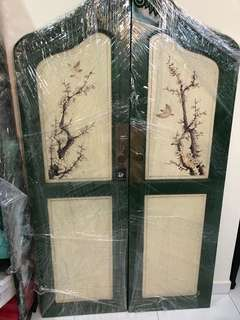Vintage Peranakan swing door