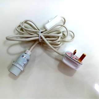 (NEW) Ikea Hanging Lamp Power Cord Set (With On/Off Switch)