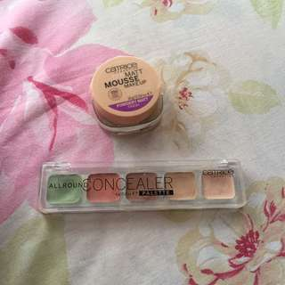 Catrice mousse dan catrice concealer pallet