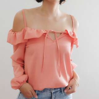 B19 PINK DAINTY STRAPPY LONG SLEEVES