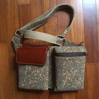 Cork crossbody sling bag / fannypack