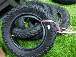 12 inch tyres + tube for dyu scooters (Chao Yang)
