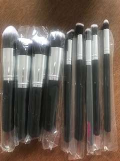 Soft makeup brushes