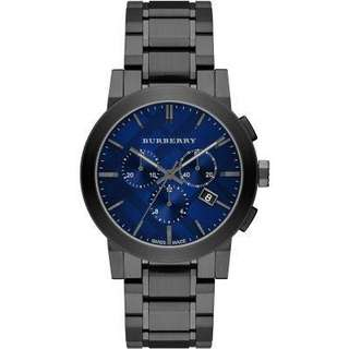 Burberry 42mm黑鋼x DeepBlue錶面Chrono計時男裝腕錶