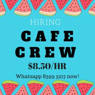 WORK IN A CAFE ENVIRONMENT ♫ UP TO $8.50/HR + COMMISSION ♫ BAYFRONT MRT ♫ FUN JOB!! ♫ APPLY NOW!!