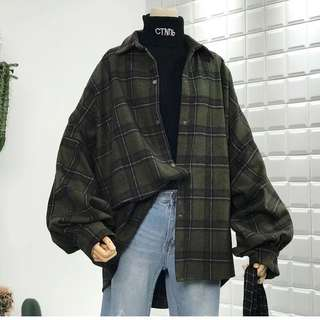 Flannel / Checked Oversize Jacket