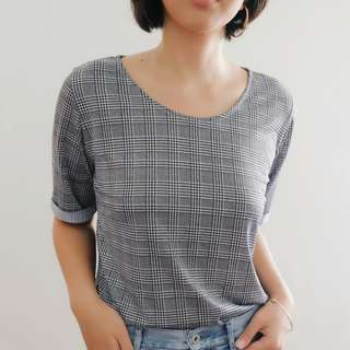 B19 BLACK GINGHAM BLOUSE