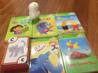Leap frog tag junior + 5 books and 1 flashcard