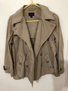 Witchery trench jacket crop style size 8
