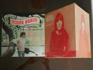 HARALD WINKLER & THE NORMAN CANDLER ORCHESTRA ● HELEN REDDY . alone again / long hard climb ( buy 1 get 1 free )  vinyl record