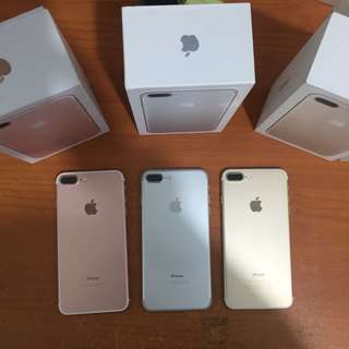Iphone 7 plus 256gb rosegold bisa tt alltype hp