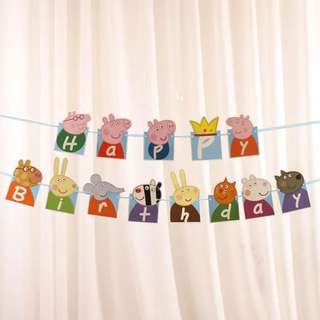 Peppa Pig Happy Birthday Banner