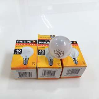 (NEW) 3 PCS - PHILIPS E14 40W CLASSICTONE SUPERLUX LAMP 240V
