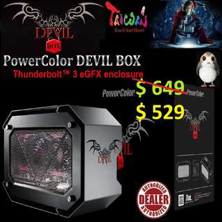 "POWERCOLOR DEVIL BOX Thunderbolt™ 3 eGFX enclosure. ""Convert Your OLD Laptop into Ultimate Gaming Beast..."" (GTX 1080 ti not included)"
