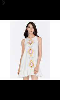 The closet lover embroidered dress