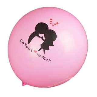 求婚氫氣球 浪漫佈景 你愛我嗎 結婚 婚禮 派對用品 裝飾 氣球 情人節 12寸 乳膠 romantic BALLOONS