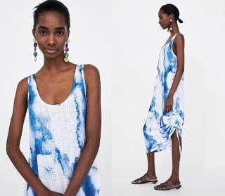 🚚 OshareGirl 05 歐美女士幾何暈染針織背心裙洋裝連身裙