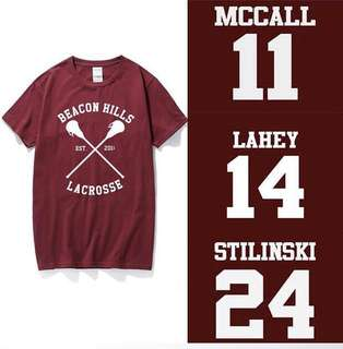Teen wolf beacon hills lacrosse tshirt shirt tee jersey inspired (instock)