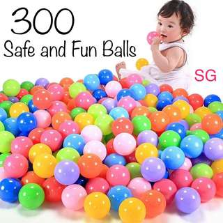 300 Ball Pit Plastic Balls for Babies and Kids