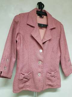 Ensembles Light Pink Tweed-like Blazer