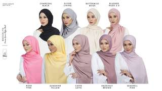Instock Korean Chiffon Long Shawl 2m