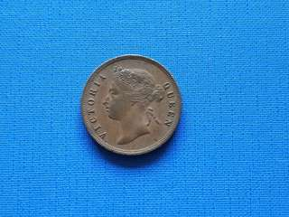 1897 Strait settlement Queen Victoria one cent coin