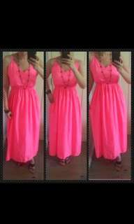 Maxi dress neon pink and very yellow. get 2 for 300