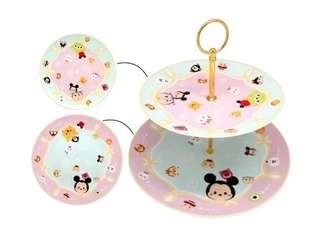 全新 Disney Tsum Tsum 雙層甜點盤架