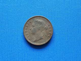 1891 Strait settlement Queen Victoria one cent coin