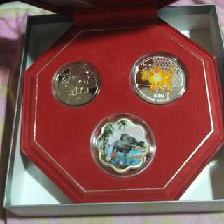 2009 Year of the Ox, Singapore Mint 2-in-1 Coin Set