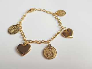 Heart and Saints Charm Bracelet