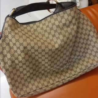 Gucci horsebit brown monogram large hobo