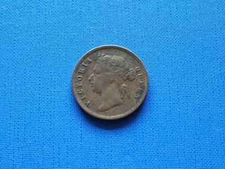 1890 Strait settlement Queen Victoria one cent
