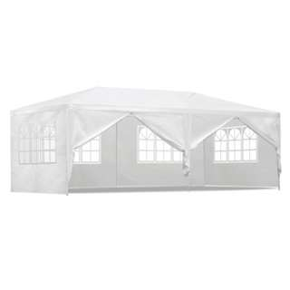 3x6M All Weather Gazebo - White
