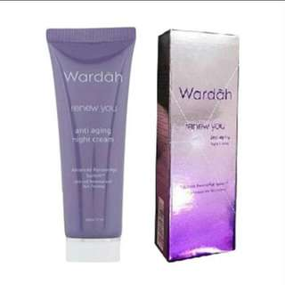 Wardah night cream anti aging new