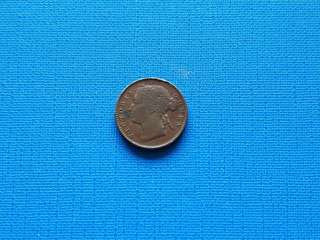 1889 Striat settlement Queen Victoria quarter cent coin