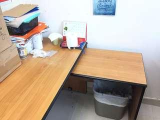 辦公室L形木枱