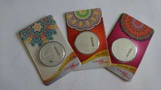 5 Silver Dirham 999.9 (1 set 3 pcs)