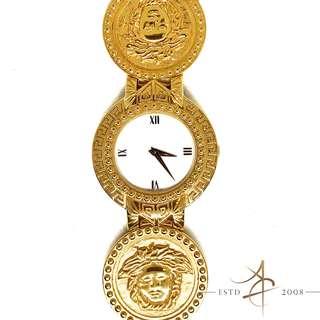 Gianni Versace Signature 01096 Gold Plated Swiss Quartz Watch Bangle