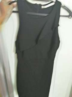 Zara xs black dress