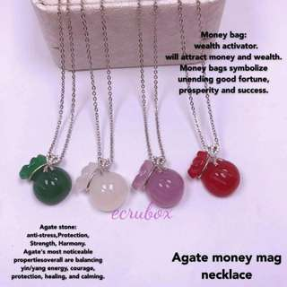 New Arrival Agate moneybag with Stainless Chain